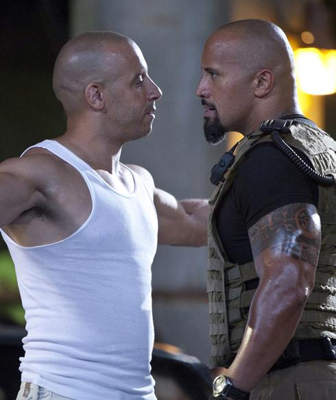 Fast and Furious 5 - Fast 5 - Rock vs Vin Diesel