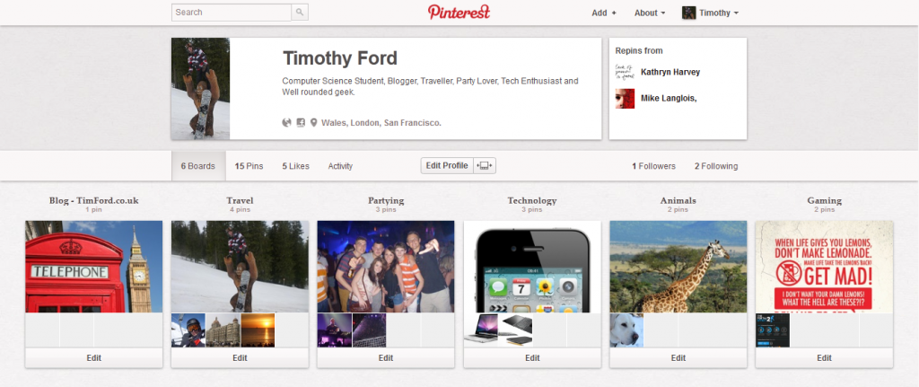 Tim Ford on Pinterest