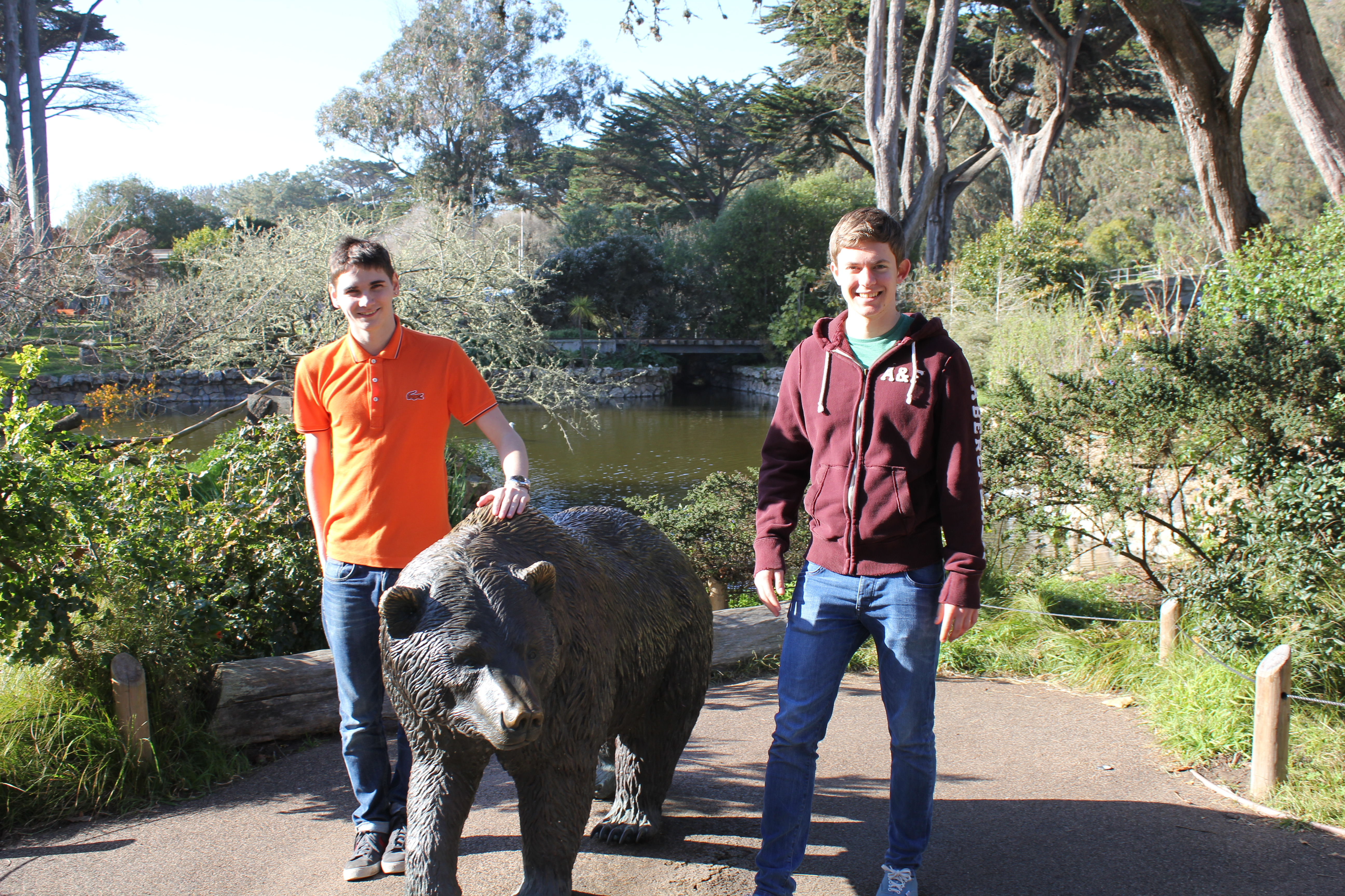 Tim Ford and Alex Nielsen at San Francisco Zoo