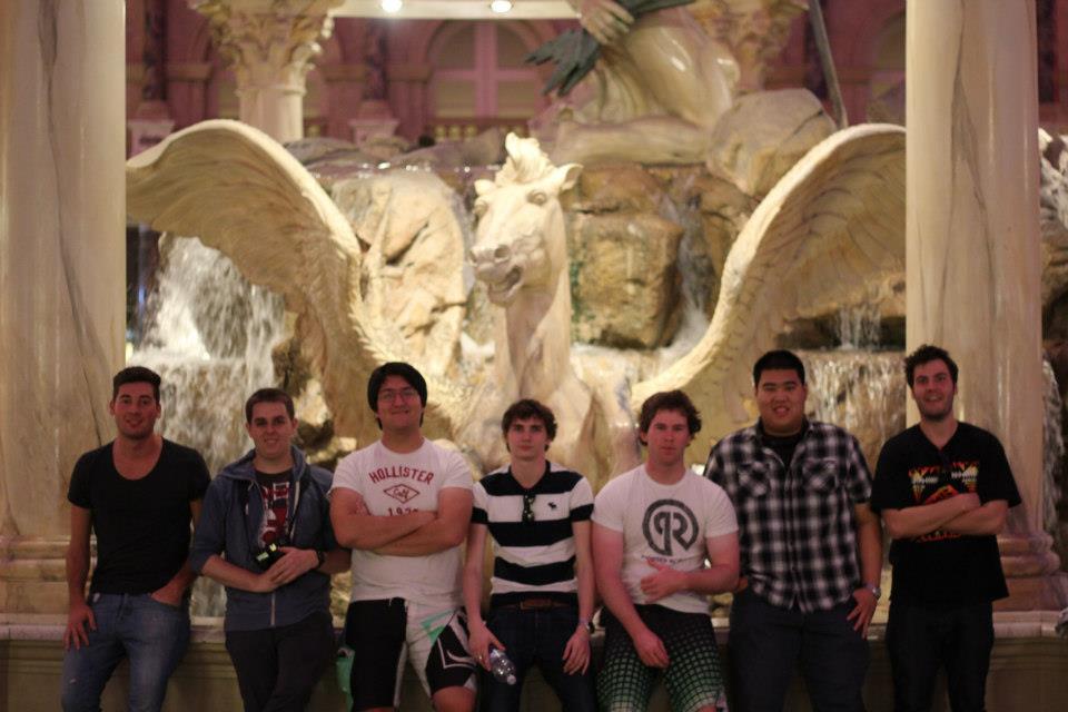 The boys in Vegas.