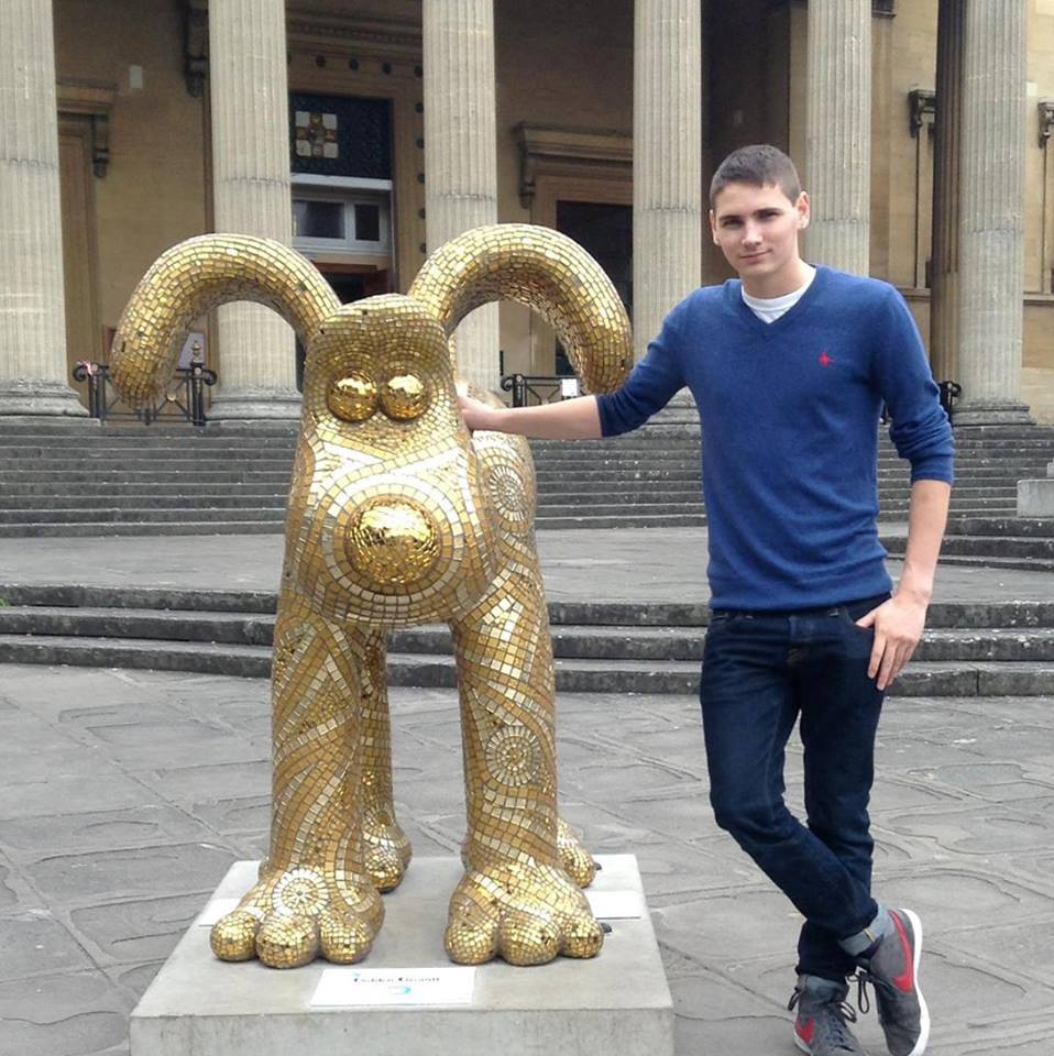 Tim Ford and Gromit in Bristol