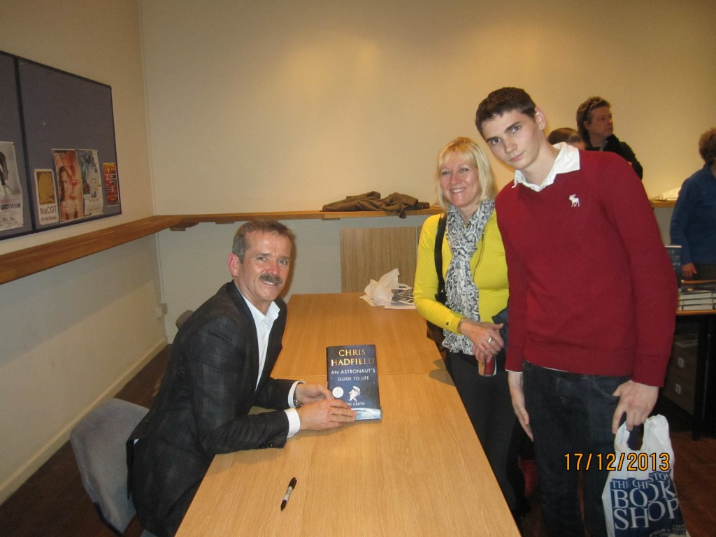 Timothy Ford and Colonel Chris Hadfield